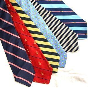 Brooks Brothers Lot of 6 100% silk ties EUC